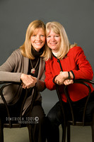 Sisters in photo studio
